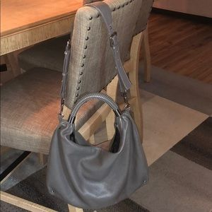 Kenneth Cole grey leather bag
